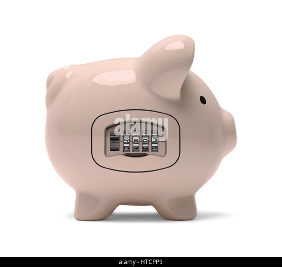 Combination lock stock photos combination lock stock for Large piggy bank with lock