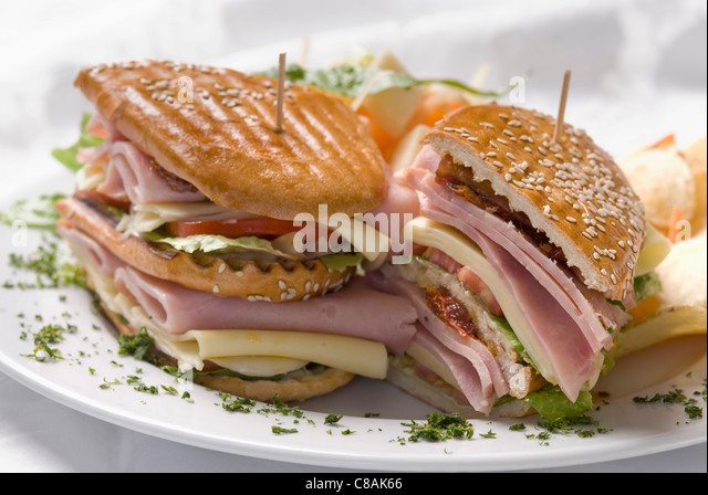 Ham And Leek Sandwich With Cheddar Sauce Recipe — Dishmaps