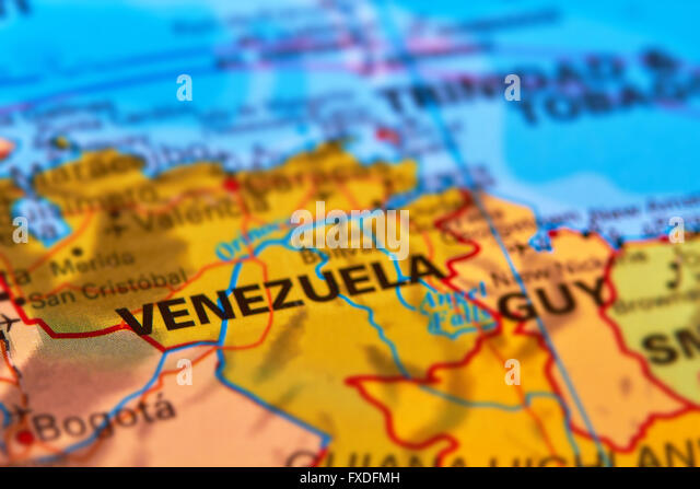Venezuela map and cities stock photos venezuela map and cities venezuela and important cities on the world map stock image sciox Images
