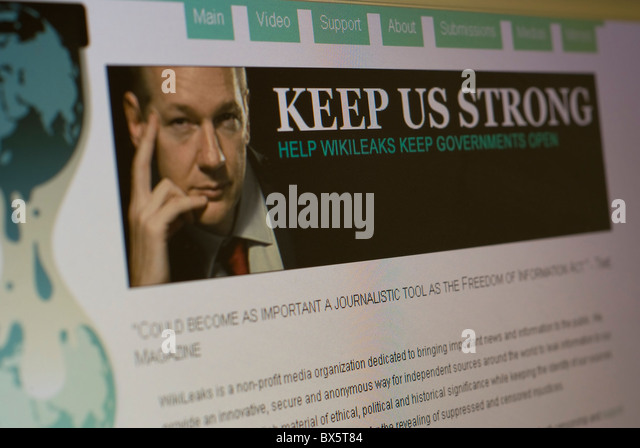 wiki leaks stock photos wiki leaks stock images alamy the wiki leaks website julian assage stock image