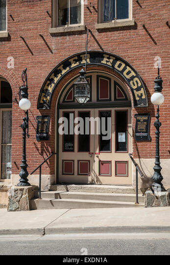 Vintage Design Entrance To The Teller House Is A Historic Hotel, Central  City , Colorado