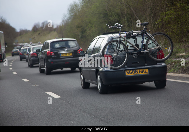 Bicycle Bike On Back Car In Stock Photos Bicycle Bike On Back