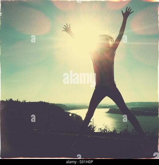 jump for joy silhouette stock photos amp jump for joy