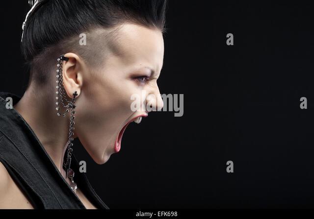 Woman Scream Anger Black And White Stock Photos & Woman ...