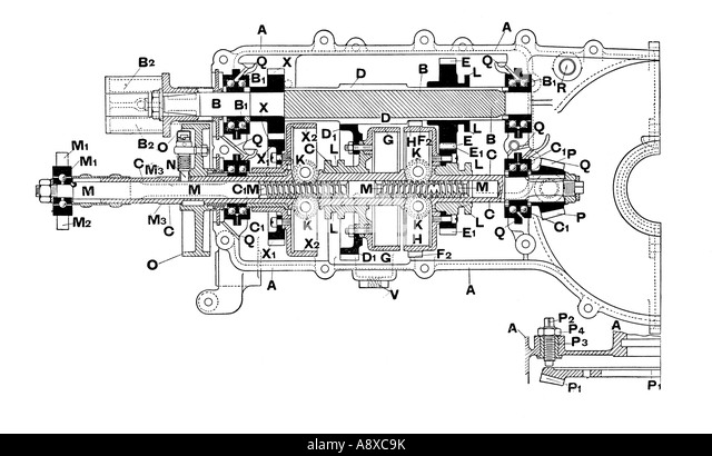 side section diagram of de dion bouton car gearbox a8xc9k gearbox diagram stock photos & gearbox diagram stock images alamy gearbox diagram at aneh.co