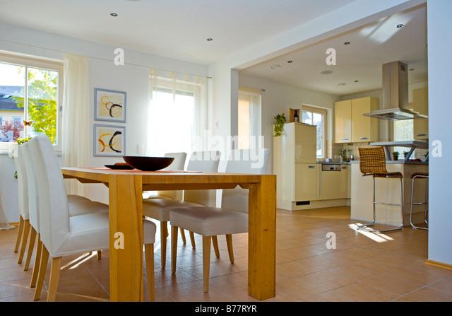 Modernes Esszimmer, Modern Dining Room   Stock Image