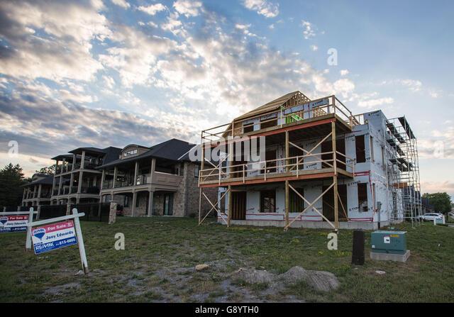 New Housing Estate Ontario Canada Stock Photos New