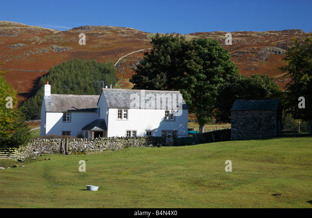 Farm House With Field In Font At Park Gate Dockray Ullswater The Lake