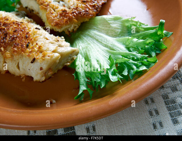 Coconut Crusted Fish - fried fish in coconut flakes. the island of ...