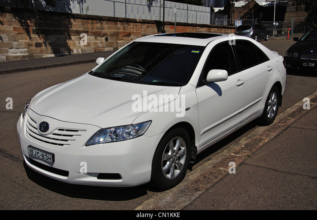 white toyota camry stock photos white toyota camry stock images alamy. Black Bedroom Furniture Sets. Home Design Ideas