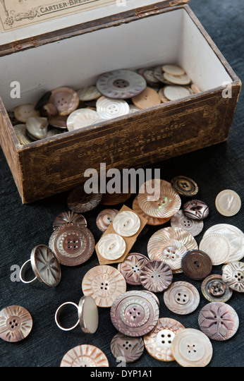 Buttons box stock photos images alamy
