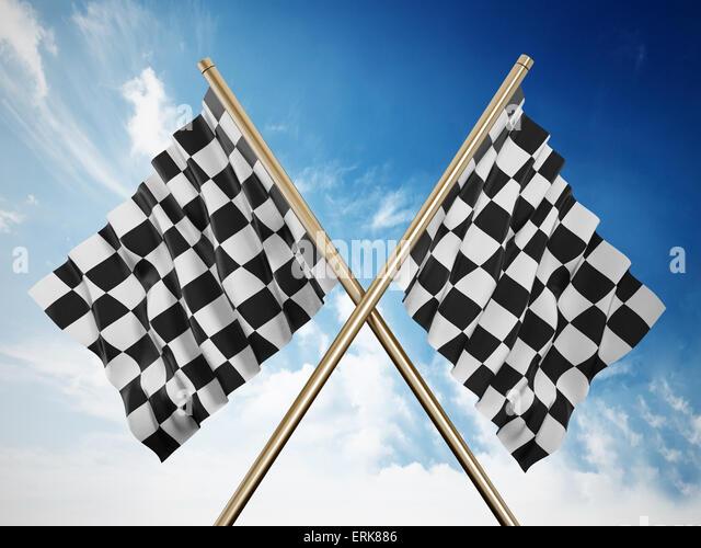 Checkered Flags Stock Photos & Checkered Flags Stock ...