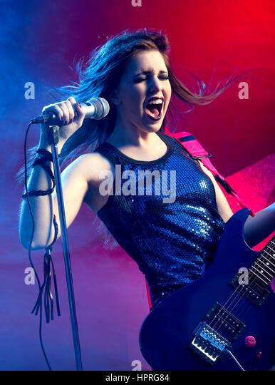 Rock Star Singing Stock Photos & Rock Star Singing Stock ...