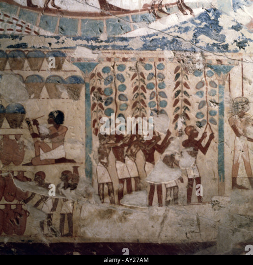 18th dynasty tomb painting stock photos 18th dynasty for Egyptian mural art