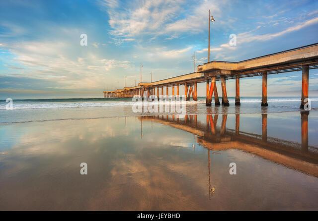 Hdr beautiful ocean beach stock photos hdr beautiful for Deep sea fishing marina del rey