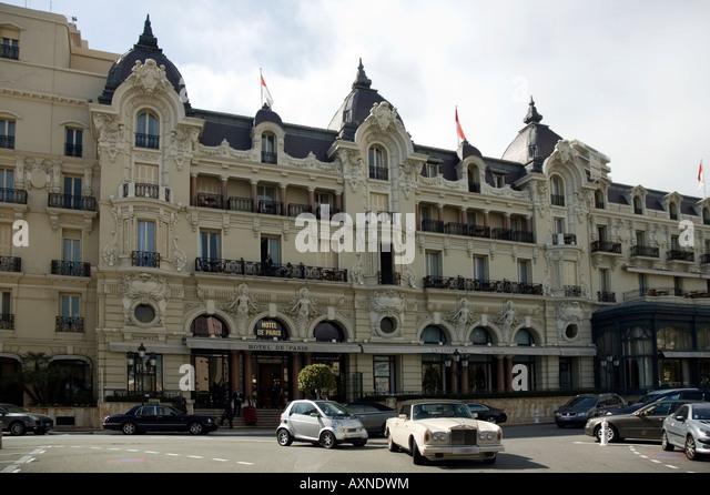Facade Of The Famous Hotel De Paris Monte Carlo Monaco Europe