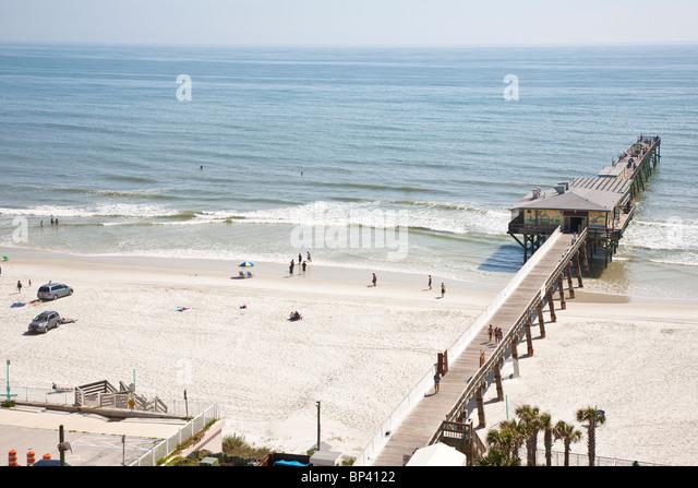 Daytona beach cars stock photos daytona beach cars stock for Daytona beach fishing pier