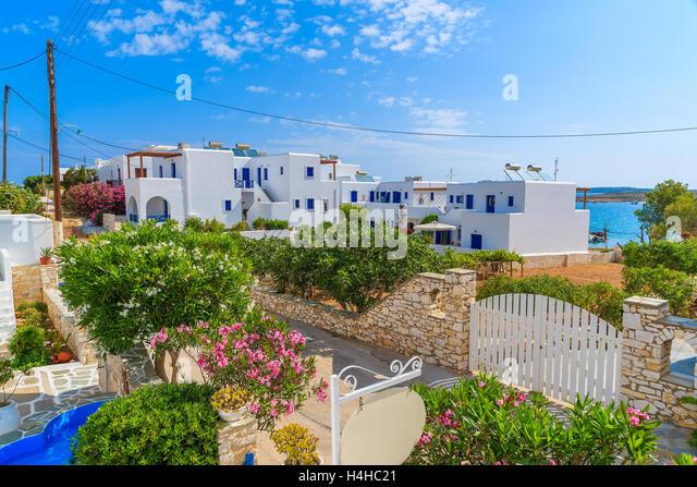 Greek House Bougainvillea Paros Greece Stock Photos ...