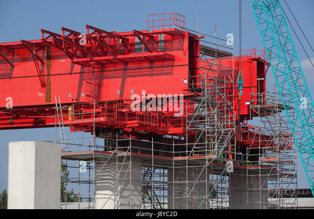 Flyover Construction Merseyside Gateway Bridge - Stock Image