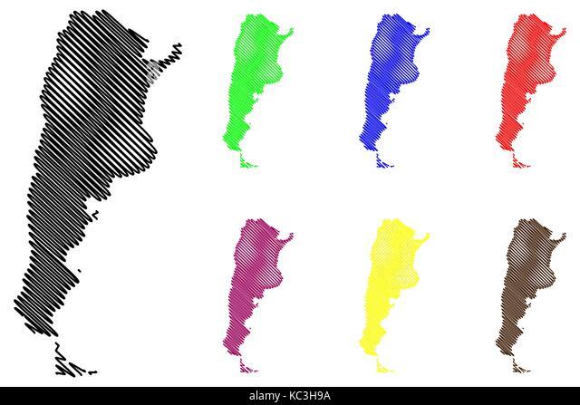 Argentina Map Vector Stock Photos Argentina Map Vector Stock - Argentina map vector