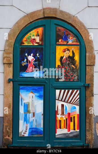Painted door - Stock Image  sc 1 st  Alamy & Door With Paintings Stock Photos u0026 Door With Paintings Stock ... pezcame.com