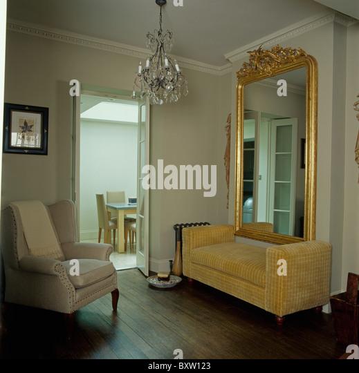 vintage wohnzimmer big sofa creme