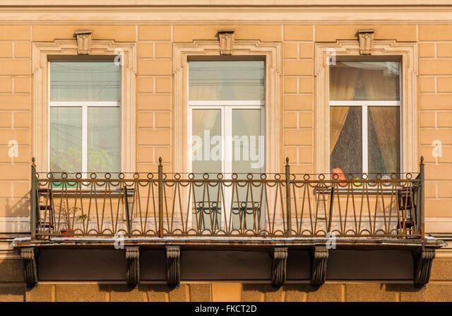 Apartment Building Front Door front door iron railing stock photos & front door iron railing