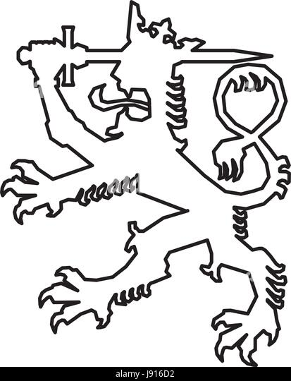 Finland Symbol Lion Stock Photos Finland Symbol Lion Stock Images