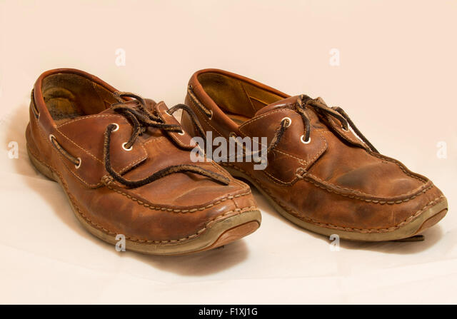 Mens Brown Polished Leather Heavy Shoes