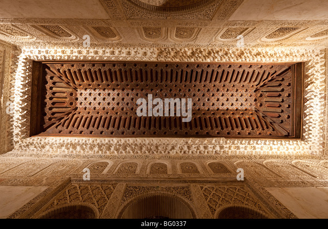 Spain wood alhambra stock photos spain wood alhambra for Alhambra decoration