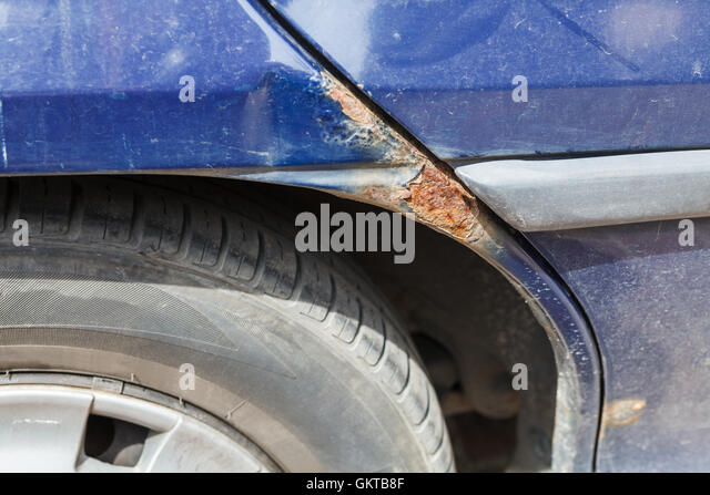 how to stop rust on a car fender