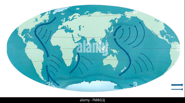 Ocean Currents Map Stock Photos & Ocean Currents Map Stock ...