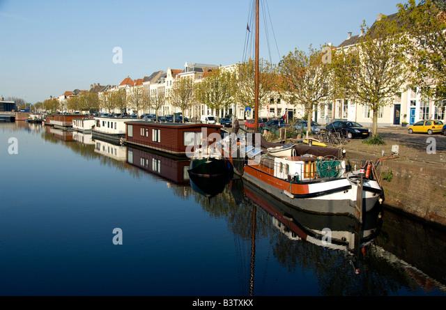 middelburg holland europe the netherlands aka zeeland city canal views airport
