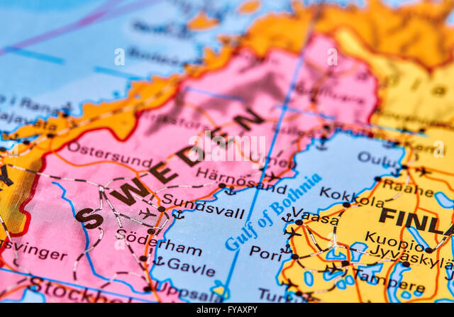 Sweden Country Map Stock Photos Sweden Country Map Stock Images - Sweden map of country