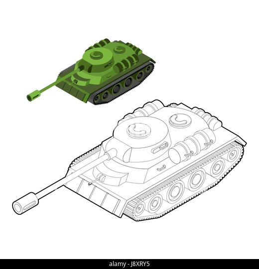 tank coloring book army equipment in linear style armored fighting vehicles tracked with