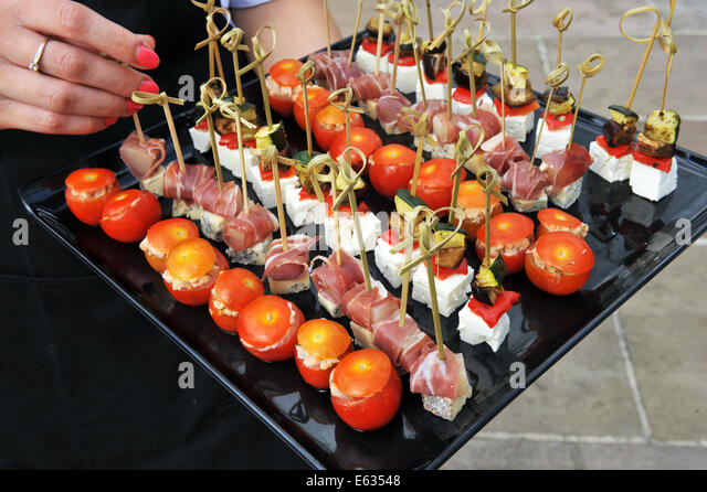 Posh food stock photos posh food stock images alamy for Canape display equipment