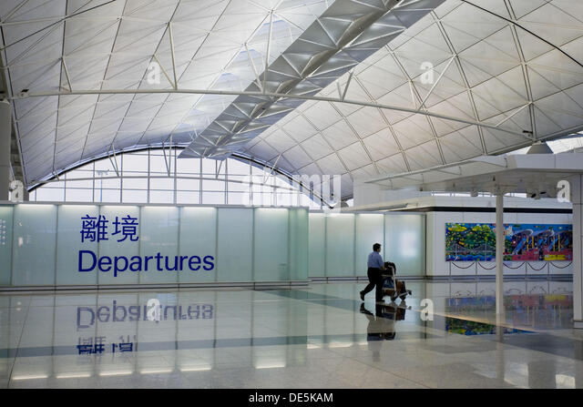 hong kong international airport departure stock photos. Black Bedroom Furniture Sets. Home Design Ideas