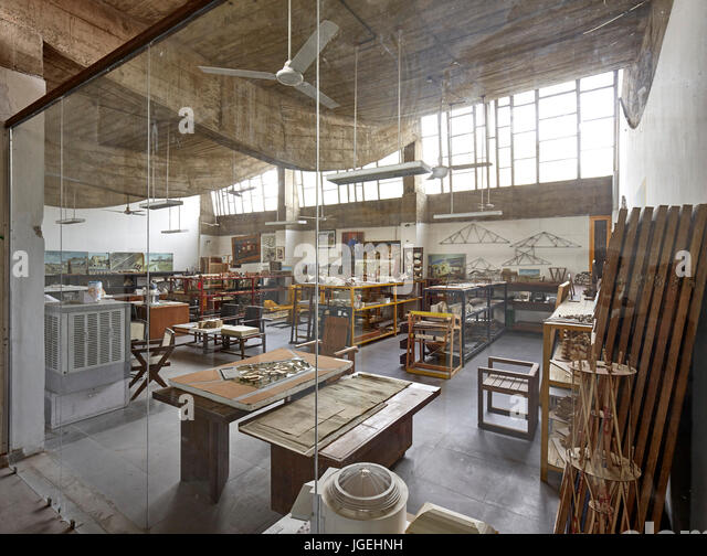 Students Studio Space Though Glass Wall Chandigarh College Of Architecture India