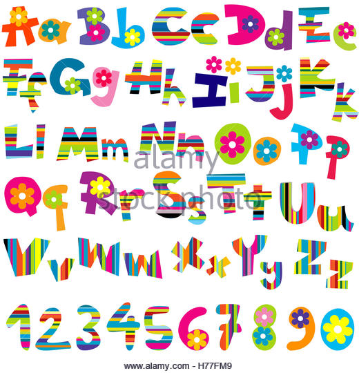 Abc Alphabet Lettering Numbers Design Stock Photos & Abc Alphabet ...