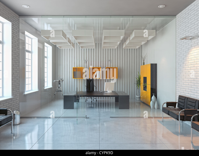 Render stock photos render stock images alamy for Modern office room interior design