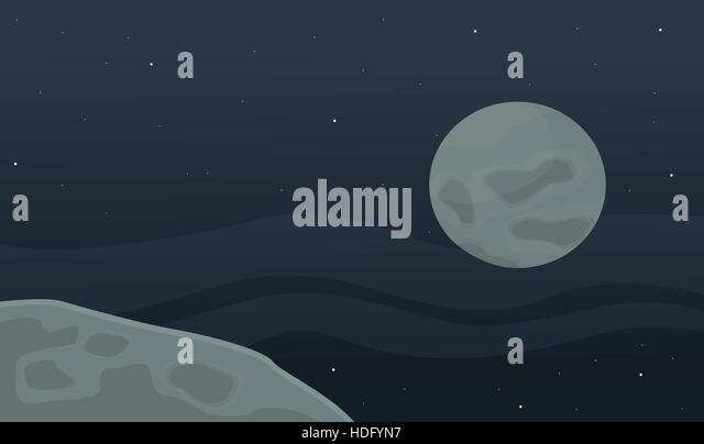 Alien planet earth moon mountains stock photos alien for Outer space landscape