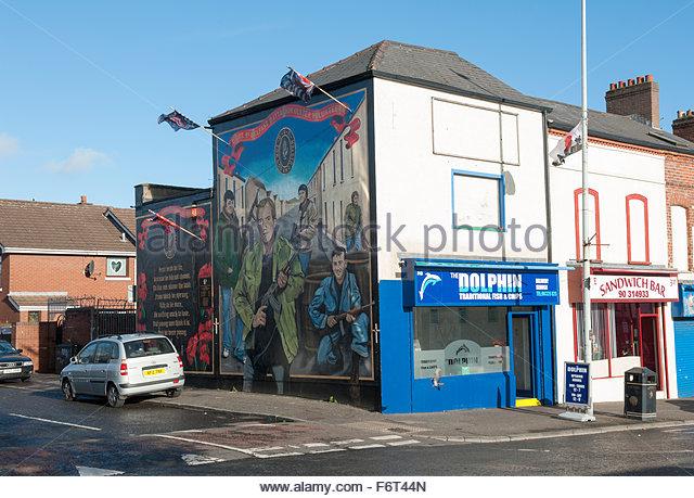 Uvf mural belfast stock photos uvf mural belfast stock for Mural northern ireland