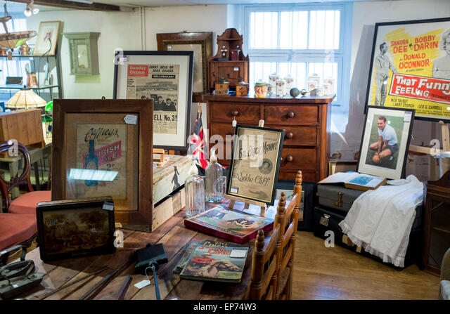 Second Hand Furniture Shop In Stroud, Gloucestershire, UK   Stock Image