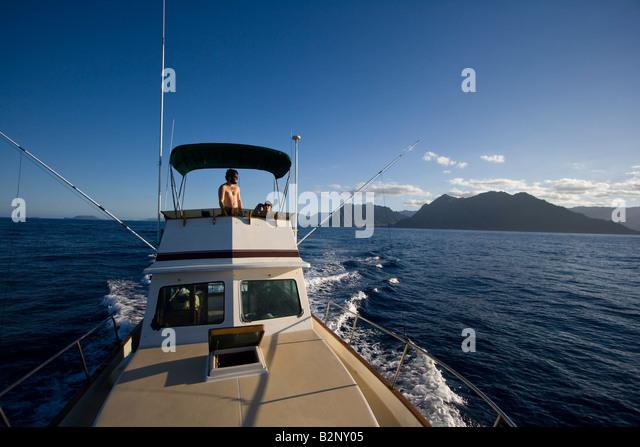 Deep sea fishing boat stock photos deep sea fishing boat for Deep sea fishing oahu