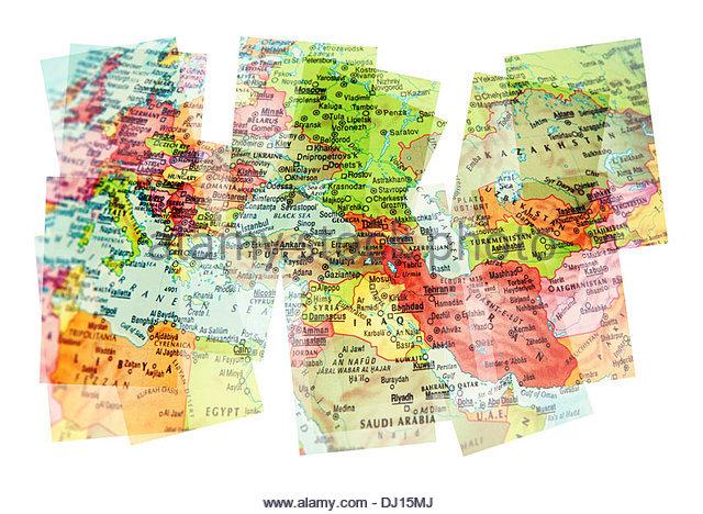 Political Map Europe Stock Photos & Political Map Europe ...