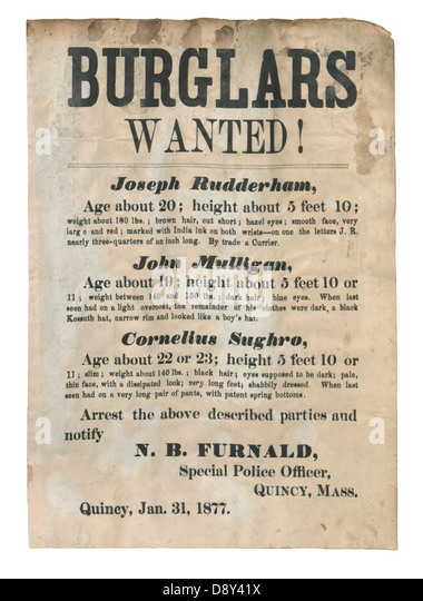 Wanted Reward Poster Cut Out Stock Images & Pictures - Alamy