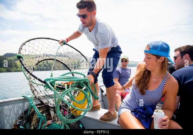 Crab trap stock photos crab trap stock images alamy for Crab fishing oregon