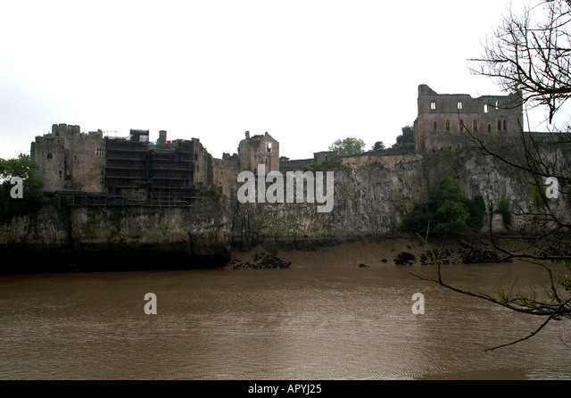 Chepstow United Kingdom  city pictures gallery : The castle Chepstow Wales United Kingdom Great Britain Stock Image