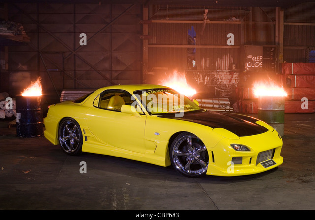 Modified Series VI FD3S Mazda RX7 Rotary Engined Japanese Sports Car