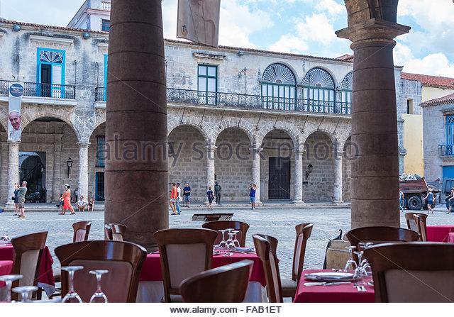 Old Havana Views From El Patio Restaurant. The Landmark Is A Unesco World  Heritage Site